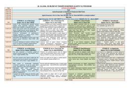 20. ulusal ısı bilimi ve tekniği kongresi (ulıbtk`15) program