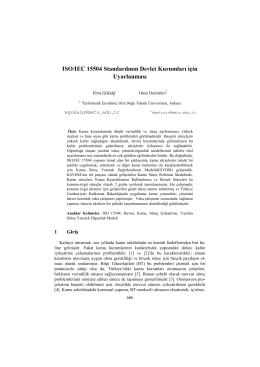 ISO/IEC 15504 Standardının Devlet Kurumları için - CEUR