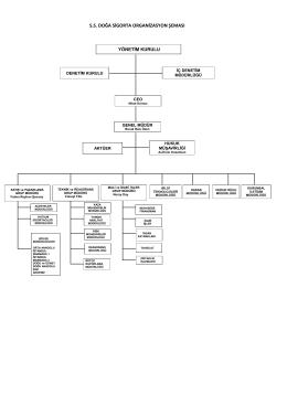 ss doğa sigorta organizasyon şeması