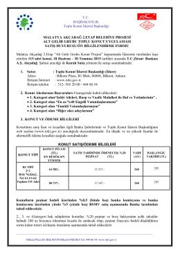 malatya akçadağ 2.etap belediye projesi alt gelir grubu toplu konut
