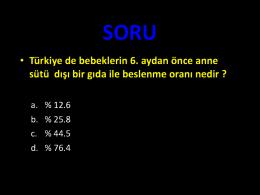 SORU - Türkiye Milli Pediatri Derneği