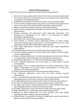 seminer - Demirci Anadolu Öğretmen Lisesi