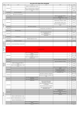 YILBAŞI TATİLİ 2014-2015 GÜZ LİSANS FİNAL PROGRAMI