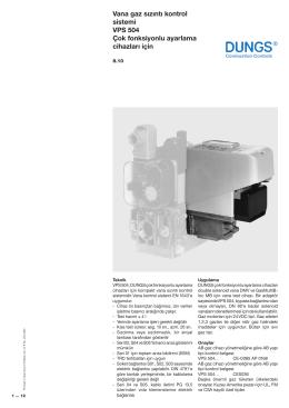 Vana gaz sızıntı kontrol sistemi VPS 504 Çok fonksiyonlu ayarlama