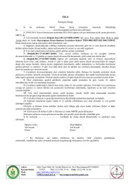 Sözleşme Örneği İş bu sözleşme, Mobil İmam Hatip Ortaokulu
