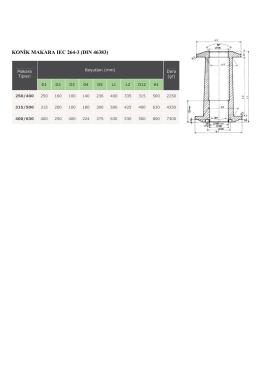 KONİK MAKARA IEC 264