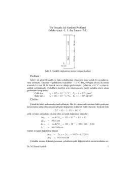 Bir Boyutlu Isıl Gerilme Problemi (Mukavemet - I, I. Ara Sınavı-17
