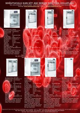 soğutuculu kan kit aşı serum saklama dolapları