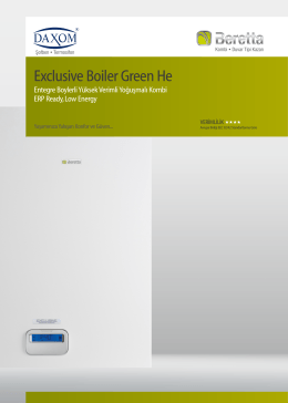 Beretta Exclusive Boiler Green He Broşür