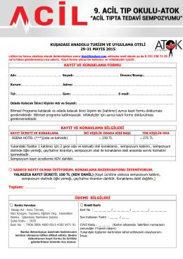 kuşadası anadolu turizm ve uygulama oteli 29-31 mayıs