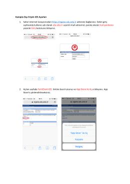 Kampüs Dışı Erişim iOS Ayarları 1. Safari internet tarayıcınızdan
