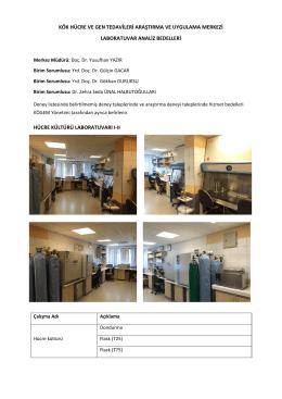 kök hücre ve gen tedavileri araştırma uygulama merkezi lab
