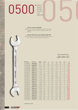 DIN 3110 ISO 3318 ISO 1085 ISO 10102 TS 81 TS/ISO 3318