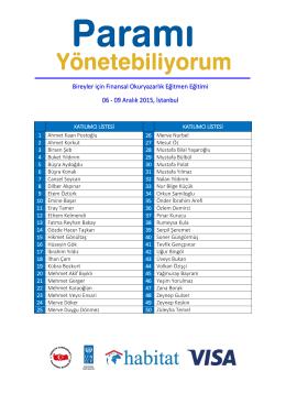 Katılımcı Listesi