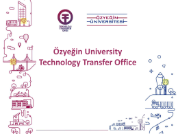 Özyeğin University Technology Transfer Office
