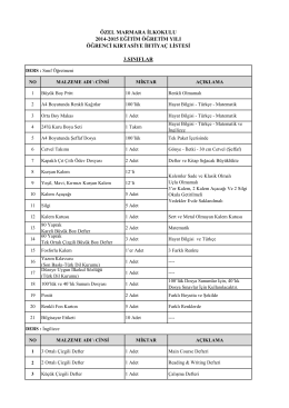 özel marmara ilkokulu 2014-2015 eğitim öğretim yılı öğrenci