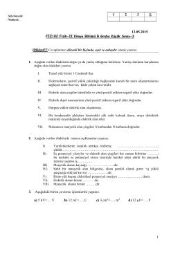 1 13.05.2015 3. Aşağıdaki birim çevirme işlemlerini yapınız. a) 5 kV