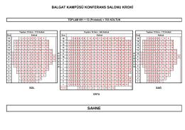 BALGAT KAMPÜSÜ KONFERANS SALONU KROKİ