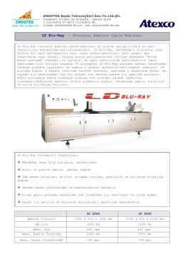 LD Blu-Ray -- Rotasyon Şablonu Çekim Makinası
