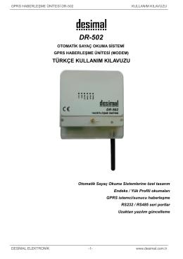 DR-502 - Desimal Elektronik