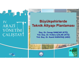 Büyükşehirlerde Teknik Altyapı Planlaması