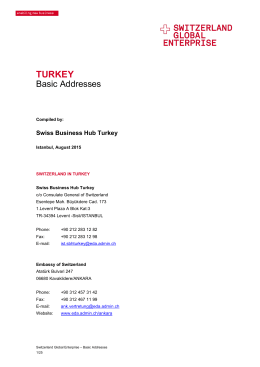 TURKEY - Switzerland Global Enterprise