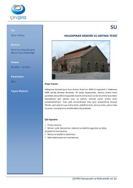 halkapınar arsenik su arıtma tesisi