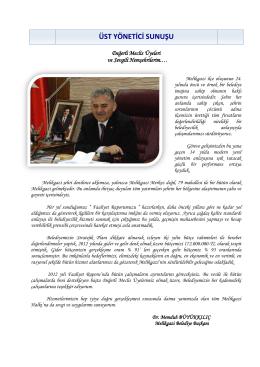 2012 yılı faaliyet raporları