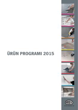 ürün programı 2015