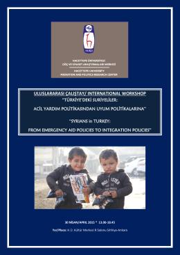 Sempozyum Programı - Hacettepe Üniversitesi Göç ve Siyaset