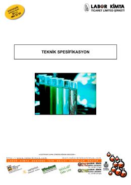 Laboratuvar Tezgahları Teknik Spesifikasyonunu