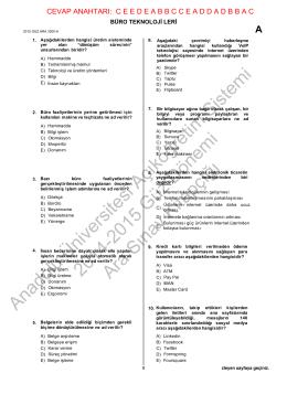 Anadolu Üniversitesi Açıköğretim Sistemi 2014