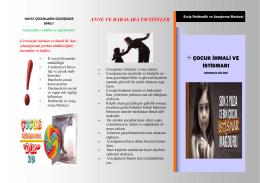 çocuk istismarı - Erciş Rehberlik ve Araştırma Merkezi