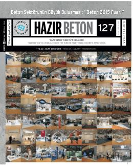 Tüm Dergi PDF - Türkiye Hazır Beton Birliği