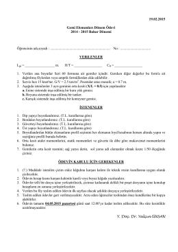 19.02.2015 Gemi Elemanları Dönem Ödevi 2014