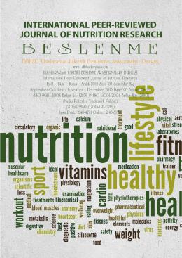 05 - Uluslararası Hakemli Beslenme Araştırmaları Dergisi