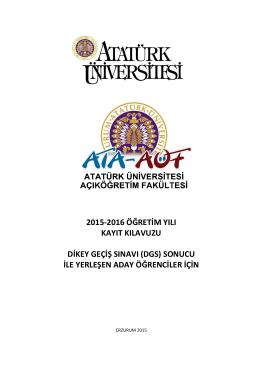 klavuzu - Atatürk Üniversitesi Açıköğretim Fakültesi