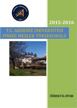 2015-2016 - Akdeniz Üniversitesi