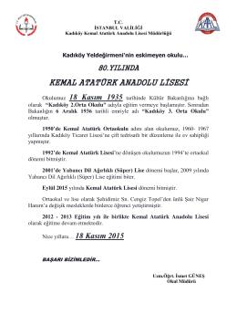 Kadıköy Yeldeğirmeni´nin Eskimeyen Okulu