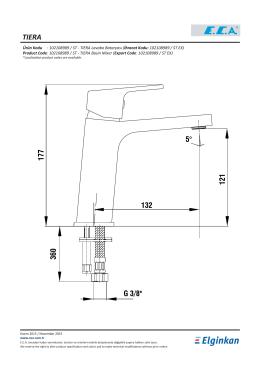 TIERA Lavabo Bataryası (İhracat Kodu: 102108989 / ST EX)