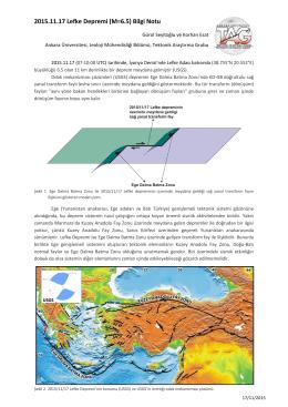 2015.11.17 Lefke Depremi (M=6.5) Bilgi Notu