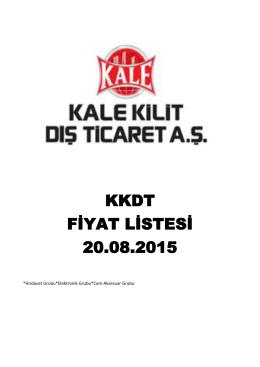 KALE DIŞ TİCARET ARCO 20.08.2015 fiyat listesi