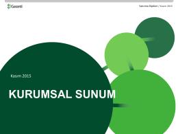 KURUMSAL SUNUM