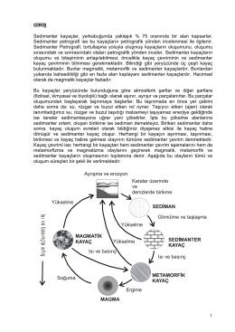1-) Sedimantoloji notları