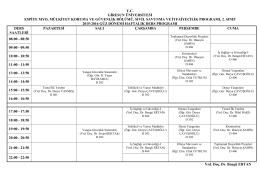 Sivil Savunma ve İtfaiyecilik Programı 2. Sınıf