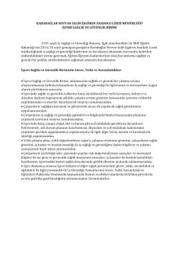 3-Okulumuz İş Sağlığı ve Güvenliği Dosyası