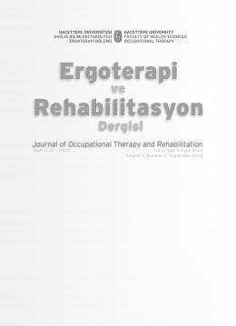 Cilt 2, Sayı 3, Eylül 2014 - Hacettepe Üniversitesi Ergoterapi Ve