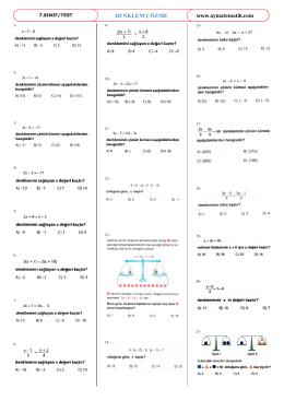 DENKLEM ÇÖZME - Abdullah Yazıcı ile Matematik