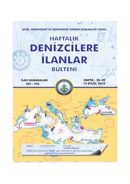 Eylül 2015 - Seyir Hidrografi ve Oşinografi Dairesi Başkanlığı