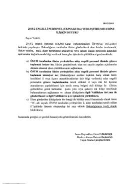 2015/2 ENGELLi PERSONEL (EKPSS